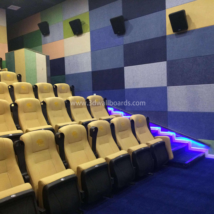 Acoustic Sound Absorbing Panels Made in China Factory Polyester Fiber Acoustic Board 9mm Thk